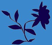 Kate Farrant - Blue Flower Wall Decal