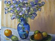 Sharon Franke - Blue Flowers and Fruit