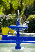Majorelle Garden Prints - Blue Fountain Print by Mick House