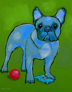 Adorable Pastels - Blue Frenchy with Matchbox Car by Danyl Cook