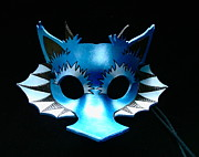 Mask Jewelry - Blue Frilled Dragon by Fibi Bell
