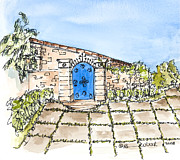Bright Appearance Painting Prints - Blue Gate Print by Barbara Wirth