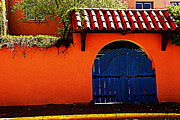 Susanne Van Hulst Prints - Blue Gate in Santa Fe Print by Susanne Van Hulst