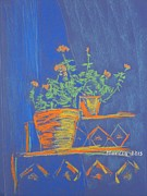 Geraniums Pastels - Blue Geranium by Marcia Meade