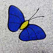 Karen Adams - Blue Glass Butterfly...