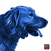 Retriever Digital Art - Blue Golden Retriever - 4047 FS by James Ahn