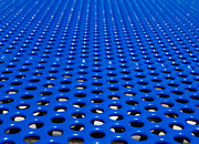 Meshed Photo Posters - Blue grate Poster by Robert Keenan