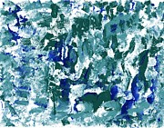 Veronica Rickard Prints - Blue Green Abstract Print by Veronica Rickard