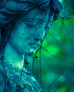 Religious Art Photos - Blue Green Angel by Sonja Quintero