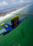 Blue Angels Framed Prints - Blue Green Framed Print by Ricky Barnard