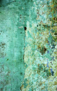 Peeling Paint Posters - Blue Green Wall Poster by Rick Piper Photography