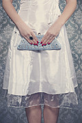 Red Nail Polish Prints - Blue Handbag Print by Joana Kruse