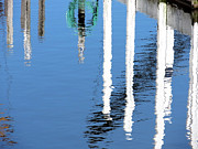 Reflections In Water Prints - Blue Harbor Print by Shawna  Rowe