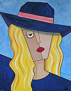 Vickie Scarlett-Fisher - Blue Hat Lady