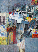 Cuba Mixed Media - Blue Havana by Elena Nosyreva