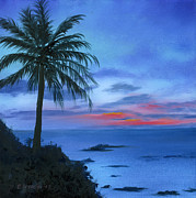 Rocky Paintings - Blue Hawaiian Sunset by Cecilia  Brendel
