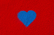 Heart Photos - Blue Heart by Tim Gainey