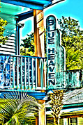 Restaurant Sign Prints - Blue Heaven in Key West - 1 Print by Susanne Van Hulst