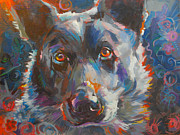 Black And White Symbolism Art - Blue Heeler by Kimberly Santini