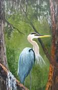 Barbara Haviland - Blue Heron Nesting