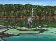 Cyndi Kingsley - Blue Heron on...