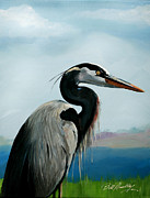 Bill Dunkley - Blue Heron on Lake