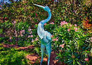 Great Neck Long Island Posters - Blue Heron Sculpture Poster by Omaste Witkowski
