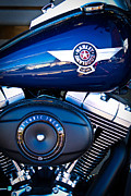 Classic Cycle Prints - Blue Hog Print by David Patterson