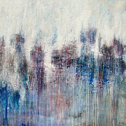 Drips Painting Originals - Blue Horizon ID# C-0920 by Shirley Williams