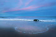 Beach Sunsets Posters - Blue Hour Beach Poster by Bill  Wakeley