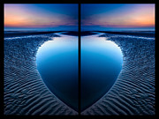 Blue Hour Diptych Print by Adrian Evans
