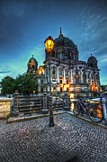 Berlin Germany Digital Art Posters - Blue hour dom Poster by Nathan Wright