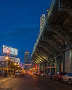 Yawkey Way Framed Prints - Blue Hour Fenway Framed Print by Paul Treseler