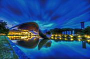 European City Digital Art - Blue hour Kulture Haus by Nathan Wright