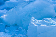 Frozen Drink Prints - Blue Ice 4 Print by Alexander Senin