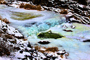 River Posters Prints - Blue Ice Print by Jon Burch Photography