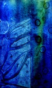 Abstract Pastel Metal Prints Posters - Blue  III  Poster by John  Nolan