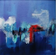 Painted Image Mixed Media - Blue Illusion by Marie Rea