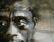 Face  Paintings - Blue In Green  Miles Davis by Paul Lovering
