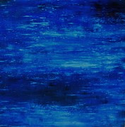 Luminous Paintings - Blue Infinity Abstract by Thomas Darnell
