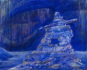 Cathy Long - Blue Inukshuk