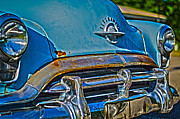 Car Pyrography Prints - Blue Print by Jason Mullins