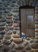 Lit Painting Originals - Blue Jay by Rob Corsetti