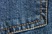 Blue Jeans Posters - Blue jeans denim detail Poster by Matthias Hauser