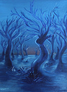 Branches Metal Prints - Blue Lady Metal Print by Felix Concepcion