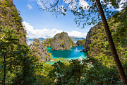 El-nido Prints - Blue Lagoon at Kayangan Lake Coron island Philippines Print by Fototrav Print
