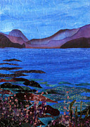 Blue Art Tapestries - Textiles Prints - Blue Lagoon Print by Jean Baardsen