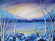 Sunset Prints Originals - Blue Lake by Beverly Livingstone
