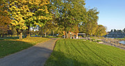 Sand Fences Photos - Blue Lake park panorama Fairview Oreogn. by Gino Rigucci