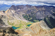 High Up Framed Prints - Blue Lakes Framed Print by Aaron Spong